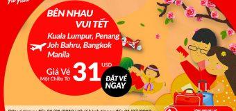 Thỏa sức du xuân ngày Tết, vé Air Asia chỉ từ 31 USD siêu rẻ