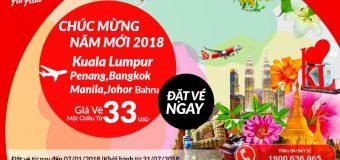 Chỉ từ 33 USD – Lựa chọn du lịch Thái Lan/ Malaysia/ Philippines cùng Air Asia?