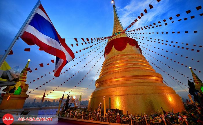 Ghé thăm chùa Wat Saket