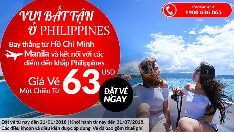 Trải nghiệm du lịch Philippines đầu năm, vé Air Asia đi Manila chỉ từ 63 USD