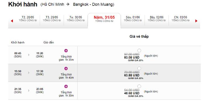 Hành trình từ Hồ Chí Minh đi BangKok