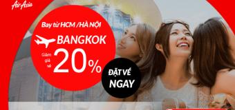 Khởi đầu ngày xuân với vé máy bay đi Thái Lan giảm tới 20% cùng Air Asia