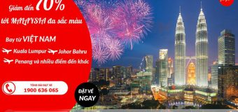 Air Asia giảm giá 70% giá vé đi Malaysia đa sắc màu