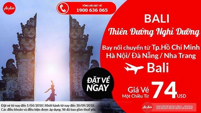 Air Asia khuyến mãi giá vé chỉ từ 74 USD