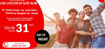 Sở hữu vé rẻ chỉ từ 31 USD – Sẵn sàng cùng Air Asia cho chuyến đi của năm thêm tiết kiệm