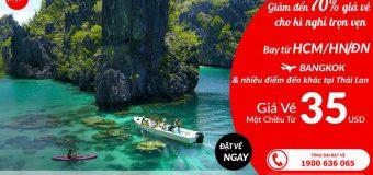 Air Asia khuyến mãi đầu tuần giảm đến 70% giá vé đi Thái Lan cho kì nghỉ thêm trọn vẹn