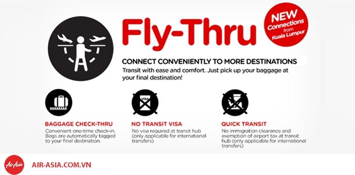 Dịch vụ nối chuyến Air Asia
