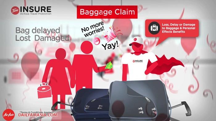 Bảo hiểm hành lý Air asia