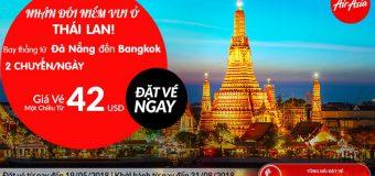 Đặt vé Air Asia từ Đà Nẵng đi Bankok giá vé từ 42 USD siêu rẻ