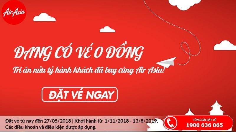 Tri âm nửa tỷ khách hàng đã bay cùng Air Asia, hãng mở bán bạt ngàn vé 0 đồng siêu KM