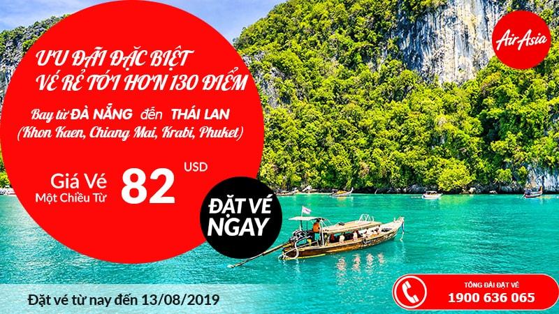 Du lịch Thái Lan tiết kiệm hơn khi bay từ Đà Nẵng, vé Air Asia chỉ từ 82 USD