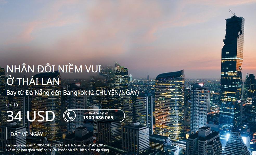 Bay Thái Lan hè 2018 không cần nhìn giá, vé Air Asia từ 34 USD ưu đãi