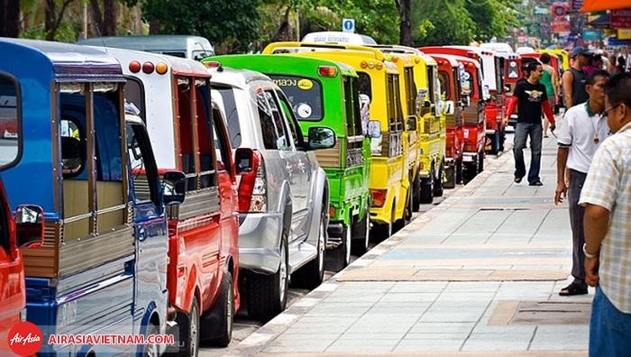Đi lại ở Phuket rất đa dạng và tiện lợi