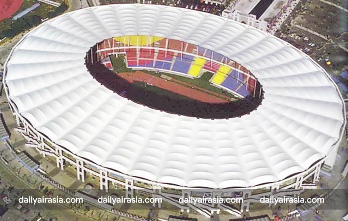 Sân vận động Bukit Jalil- nơi diễn ra trận chung kết bóng đá giữa Malaysia và Việt Nam