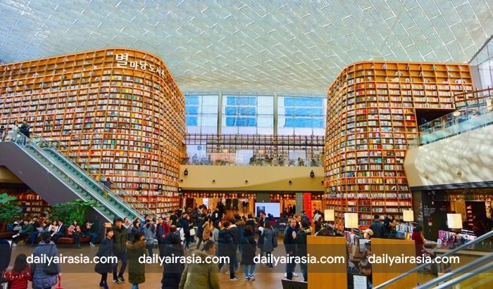 Choáng ngợp với vẻ đẹp của thư viện Starfleld giữa lòng Seoul